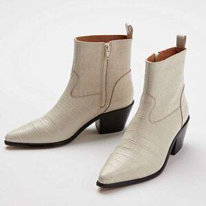 oliver bonas croc white cowboy boots