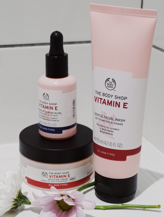 the body shop vitamin e range - arcticsabrina's skincare routine